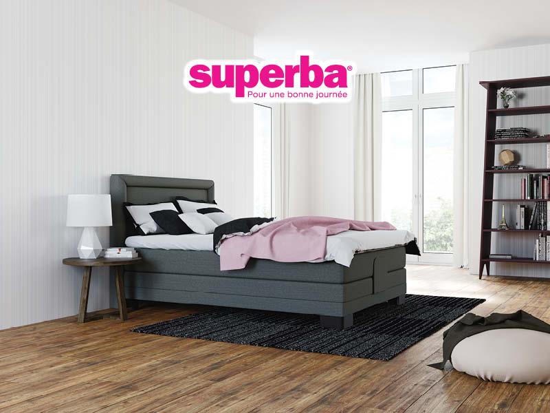 offre boxspring superba literie concept. Black Bedroom Furniture Sets. Home Design Ideas