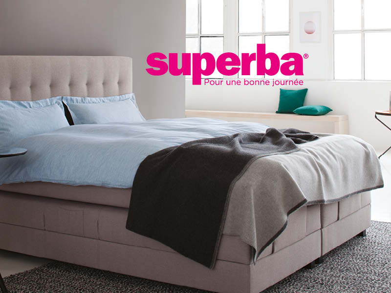 superba soldes literie concept. Black Bedroom Furniture Sets. Home Design Ideas