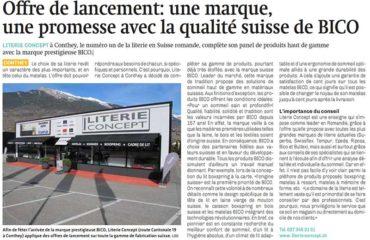 Article de presse Nouvelliste matelas Bico